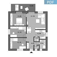 House O80 - Floor plan in pdf