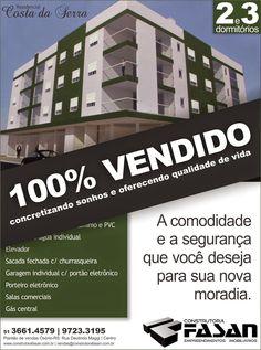 Construtora Fasan: Sucesso de vendas - Costa da Serra