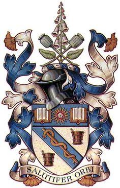 School of Pharmacy Coat of Arms Medieval, Asian History, British History, Strange History, History Facts, Tudor History, Knights Templar, Family Crest, Crests