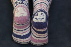 Ravelry: Emoji Socks pattern by Becky Greene