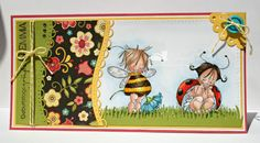 Images from Mo's Digital Pencil: baby fairy bee, baby fairy ladybug  (colored with Prismacolor pencils and Twinklings H²O)