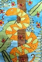 I did something similar, highlighting Henri RousseauRainforest watercolor painting.I did something similar, highlighting Henri Rousseau Spring Art Projects, School Art Projects, 2nd Grade Art, Fourth Grade, Teaching Art, Teaching Resources, Teaching Ideas, Jungle Art, Art Lessons Elementary