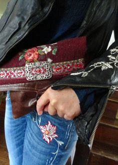 Embroidery, yes please. Needlepoint clutch by Melody Elizabeth