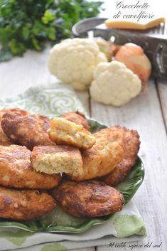 CROCCHETTE DI CAVOLFIORE ricetta infallibile - Blog di Il caldo sapore del sud Arancini, Tasty, Yummy Food, Recipe For 4, Antipasto, Diy Food, Tandoori Chicken, Cooking Time, Chicken Wings