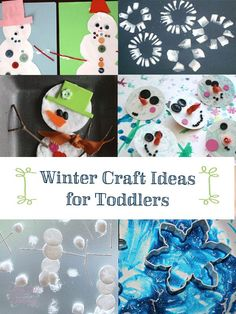 Super fun and easy winter craft ideas for toddlers - love these simple winter ideas, older kids would enjoy them too!