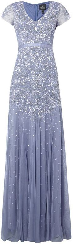 Would love this is white. Adrianna Papell Jewel sequin dress with flutter sleeves