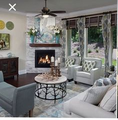 Stunning Corner Fireplace Ideas For Your Living Room Design < moeshouse fireplace furniture arrangement Stunning Corner Fireplace Ideas For Your Living Room Design Small Living Room Layout, Small Living Room Furniture, Small Living Rooms, Living Room Chairs, Home Living Room, Home Fireplace, Living Room With Fireplace, Fireplace Ideas, Corner Fireplaces