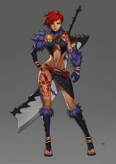 wolf warrior - I, personally, have a problem with these over-sized swords. Perhaps because I have used a great-sword...