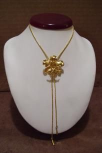 Golden Flower Necklace Costume Jewelry