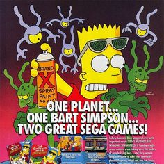 By geekcentre: #bartvsthespacemutants #thesimpsons #bart #bartsimpson #retro #retrogame #retrogamer #retrogaming #classic #classicgame #coverart #art #ad #gamegear #mastersystem #megadrive #sega #segamegadrive #segagenesis #genesis #game #gamer #gaming #gameart #geek #geeky #geekcentre #segagenesis #segamegadrive #microhobbit