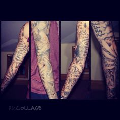Religious tattoo sleeve