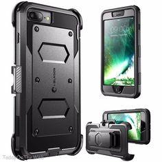 Apple iPhone 7 Plus i-Blason ArmorBox Heavy Duty Protection Black Holster Case #iBlason