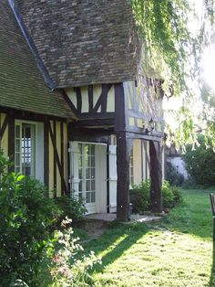 Love the Shutters around the front door ~ Normandy, France