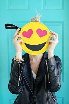 How to make an emoji clutch - 9-step DIY from the crafty people at 'A Beautiful Mess' | Full tutorial at StyleCaster.com