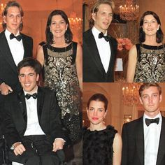 Princess Caroline pictured with her children, Andrea, Charlotte and Pierre Casiraghi in March 2011.