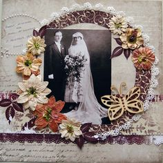 scrapbooking layouts for weddings | This is a layout I did last year of my grandparents wedding. I ...