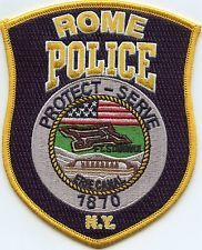 ROME NEW YORK POLICE PATCH