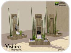 jomsims' yashiro asian inspiration fountain