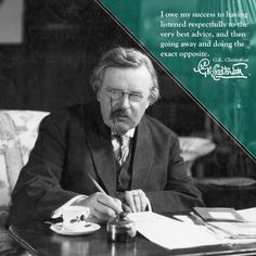 G.K. Chesterton | 30 Indispensable Writing Tips From Famous Authors