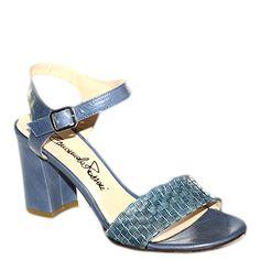 #Sandalo col tacco medio in pelle blu di #EmanuelaPasseri  http://www.tentazioneshop.it/scarpe-emanuela-passeri/sandalo-4033-blu-emanuela-passeri.html