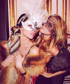 Life's a ball, and today is a masquerade. Vogue anniversary party in Paris. With Maryna Linchuk and Sasha Pivovarova Sasha Pivovarova, Eyes Wide Shut, Lace Mask, Masquerade Party, Halloween Masquerade, Masquerade Masks, Cultura Pop, Weekender, Editorial Fashion