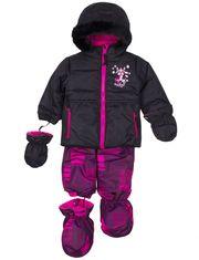 Habit de neige 2-pièces brodé Katy K avec accessoires pour bébé fille