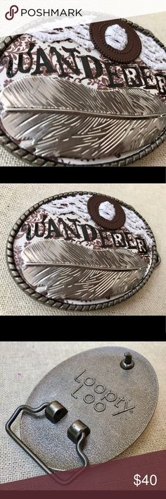 "Festival Wanderer OOAK Big Belt Buckle Gypsy Soul Unique big belt buckle vintage hardware love. This is a one of a kind piece featuring vintage ephemera, stamped metal, lace, and hand lettering.   OOAK, there will not be another. Measures approx. 3.5x2.5"" listing is for buckle only, takes up to a 1.5"" belt.   Most of our items are made with vintage pieces and findings. Because we do reclaim vintage items the pieces may have beautiful imperfections or patina that only adds to the charm. Joann…"