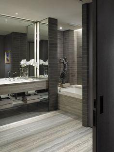Private Residence Tribeca by David Grout, via Behance Espelho na parede inteira