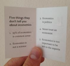 The Shortest Economics Textbook Ever  --- The Little Blue Book - The 5 things they don't tell you about economics