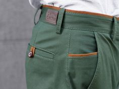 Items similar to Forest Green Chinos - Limited Edition Mens Slacks, Men Trousers, Men's Pants, Cool Outfits For Men, Green Chinos, Green Pants, Business Casual Men, Tall Guys, Tall Men