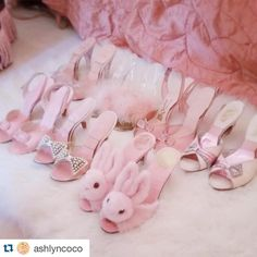 Shoes What a dreamy shoe collection! Princess Aesthetic, Pink Aesthetic, Cute Shoes, Me Too Shoes, Kawaii Shoes, Pink Princess, Everything Pink, Dream Shoes, Kawaii Fashion