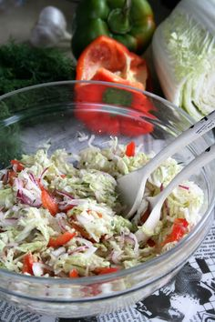 Vegetable Salad, Potato Salad, Shrimp, Cabbage, Potatoes, Meat, Vegetables, Ethnic Recipes, Food