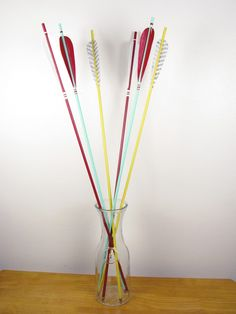 Arrows Sea Green Red and Yellow by NativeShop on Etsy, $54.00