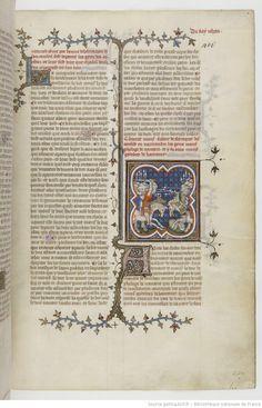 Grandes Chroniques de France Fol 401r, 1375-1380, Henri du Trévou & Raoulet d'Orléans
