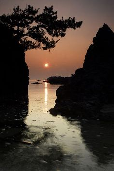 Sunrise in sea, Gangwon, South Korea