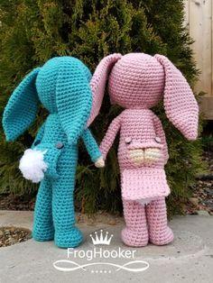 Cheeky Bunny Pajama Doll Free Crochet Pattern - Frog Hooker