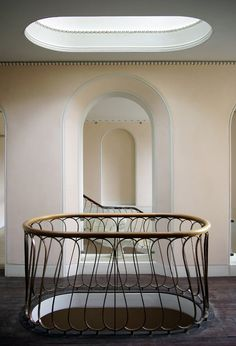 Details from Soane's Moggerhanger House, Bedfordshire. Matches a stair in the Sir John Soane Museum Architecture Details, Interior Architecture, Interior Design, Stair Handrail, Banisters, Metal Stairs, Ceiling Detail, Classic Interior, Traditional Interior