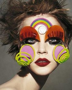 "INSPIRATION: ""PAPER-MACHED"" features created by visionary #MUA: @PatMcGrathReal PHOTO: Steven Meisel #inspiration"