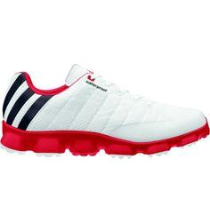 adidas Men's crossflex Golf Shoe - White/Black/Red