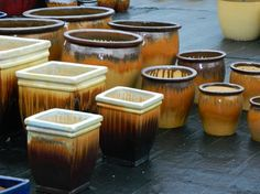 glazed pots, colorful planters, urns, outdoor decor, pots, planters, gardening, garden pots, garden planters, glazed pottery, plant containers, Photos of Planters In Tampa bay - Tampa Bay's Finest Pottery, Fountains, Statues, Planters, Talavera, and MORE!