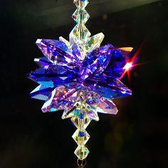 "13.5"" LONG Swarovski Suncatcher Crystal Suncatcher Rainbow Maker Crystal Prism Window Ornament Crystal Light Catcher Swarovski Prism Maker"