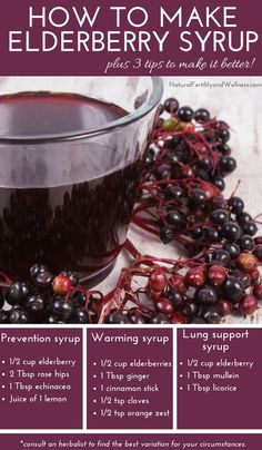 How to make elderberry syrup, plus 3 tips for making the best batch! - How to make elderberry syrup, plus 3 tips for making the best batch! How to make elderberry syrup with 3 tips on making the best batch as well as multiple variations Natural Health Remedies, Natural Cures, Natural Healing, Herbal Remedies, Natural Treatments, Cold Remedies, Natural Fertility, Natural Foods, Holistic Healing