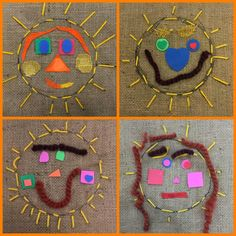 Mrs. Knight's Smartest Artists: Kindergarten Sun Stitching!