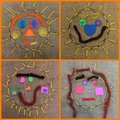 Mrs. Knight's Smartest Artists: Kindergarten Sun Stitching!