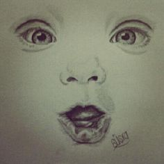 cute baby face sketch :) #baby #drawing #sketch #art #portrait #mine #cute #beauty #lips #eyes #sweet #pencil #charcoal