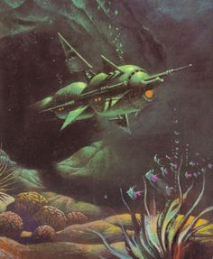 BRUCE PENNINGTON - art for The Dragon in the Sea by Frank Herbert - 1973 New English Library
