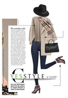 """""""YESSTYLE.com"""" by monmondefou ❤ liked on Polyvore featuring PEPER, Frame Denim, Goroke, Burberry, Yves Saint Laurent, COII, BeckSöndergaard and yesstyle"""