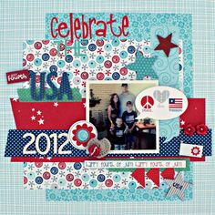 Celebrate The USA - Scrapbook.com