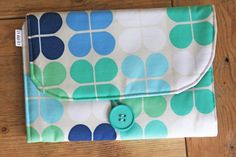 Diaper Changing Pad Diapering on the Go Blue Green by izyandoly