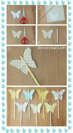 Straws with butterflies, nice for summer party :)